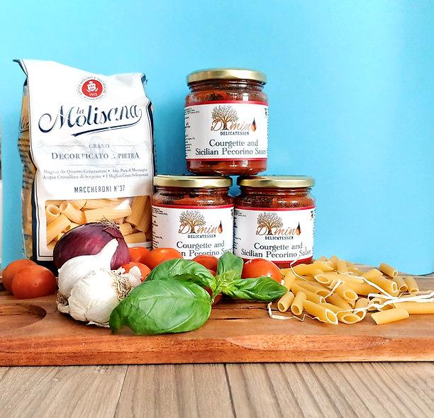 Dimino Sicilian Courgettes & Pecorino Sauce. Set of 3 Jars