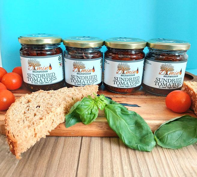 Seasoned Sicilian Sundried Tomatoes. Set of 4 Jars