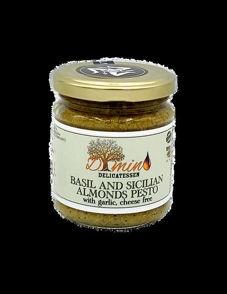 Sicilian Basil and Almonds pesto cheese free -200g