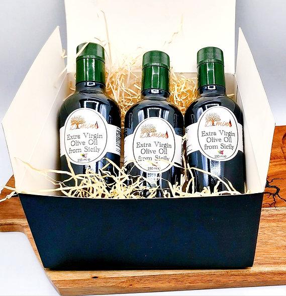 Gift Olive Oil Box - 3 bottles 250ml