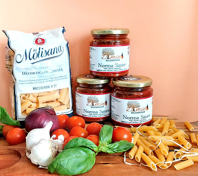 Dimino Sicilian Norma Sauce. Set of 3 Jars