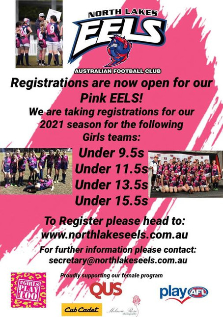 Registrations now open for our pink EELS!