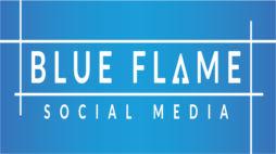 Blue - Blue Flame Social Media Logo Vect