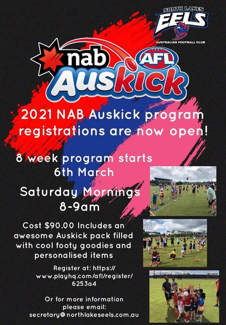 2021 NAB Auskick Registrations Are Now Open!