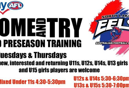 2021 Preseason Training/Come and Try Day