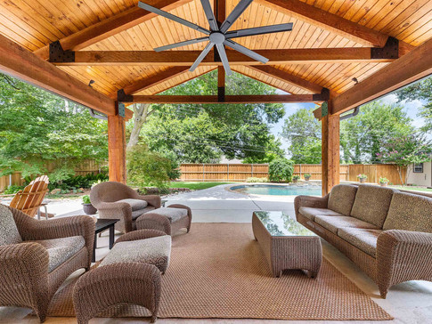 Rustic Covered Patio
