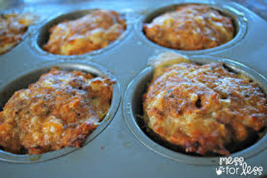 Chicken Meatloaf Cupcakes With Vegetables