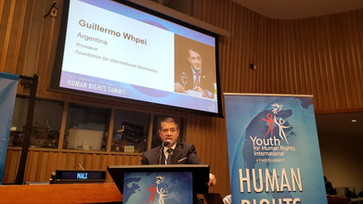 Guillermo Whpei en la Cumbre Internacional de Derechos Humanos de la ONU