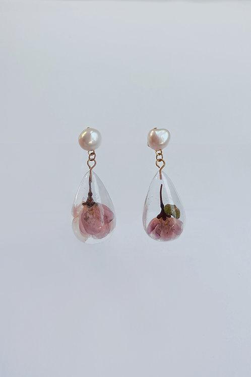 Sakura Pearl Drop Earrings