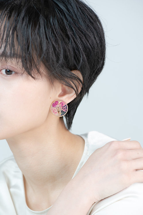 Aura Earrings-Mulberry