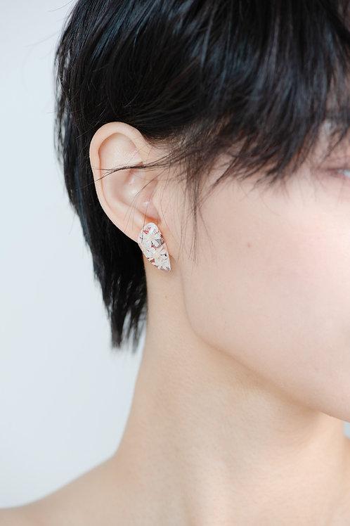 White Star Stone Earrings