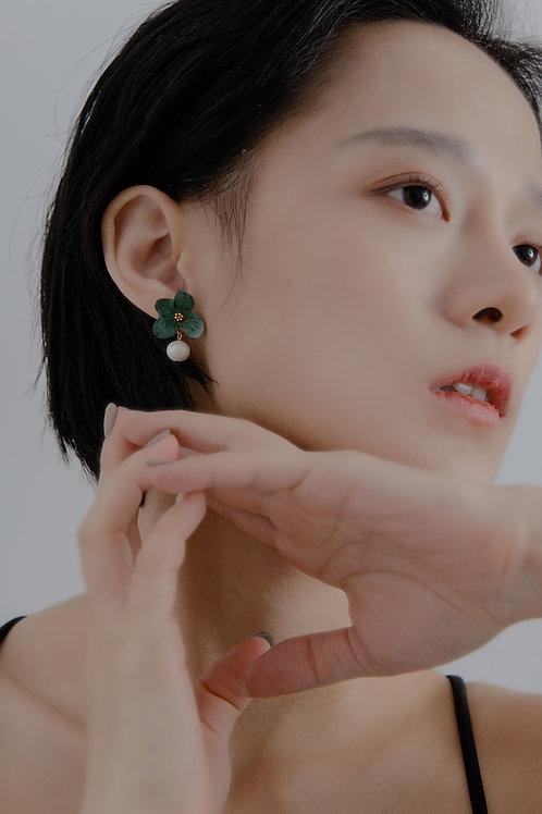 Hotaru Earrings-Forest Green