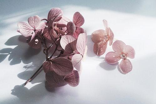 Muted Pink Flower Earrings