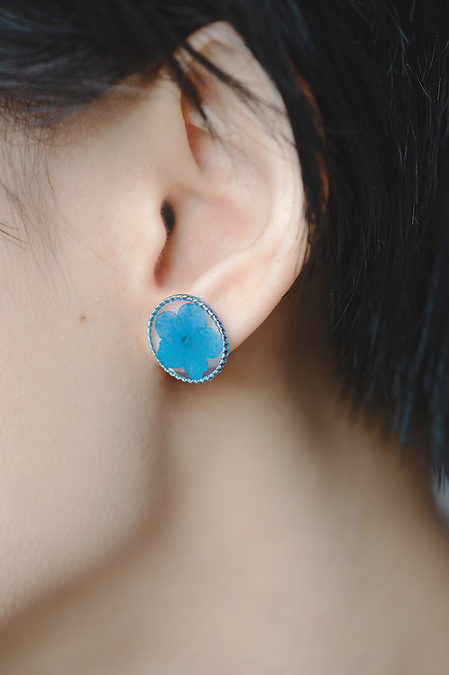 Circle Dance Earrings -Blue