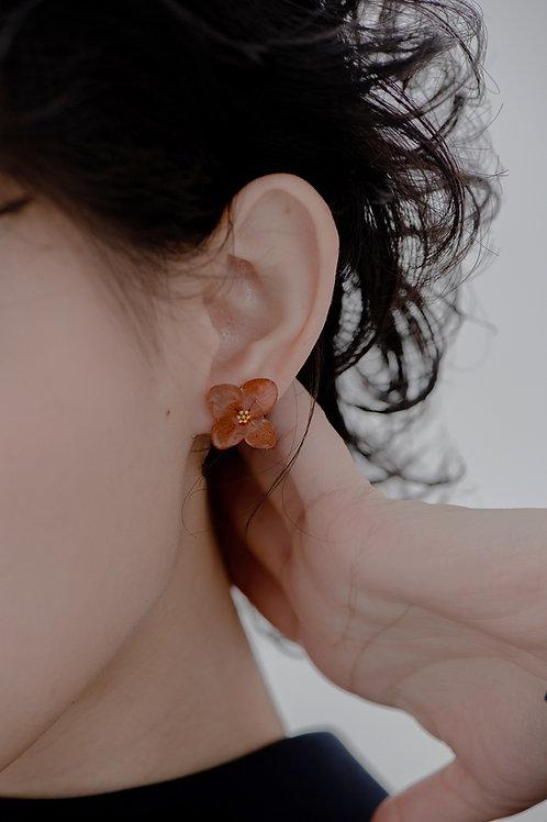 Love Earrings-Brown