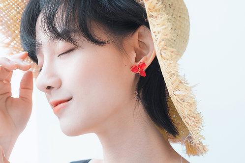 Love Earrings-Red