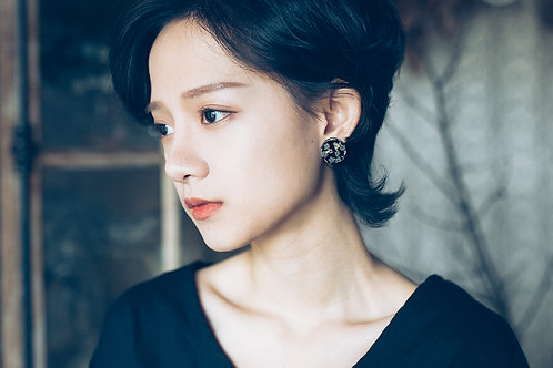 Limonium Dark Moon Earrings