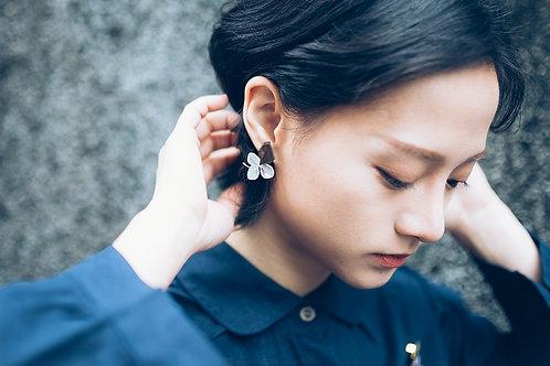 Two-toned Gem Earrings