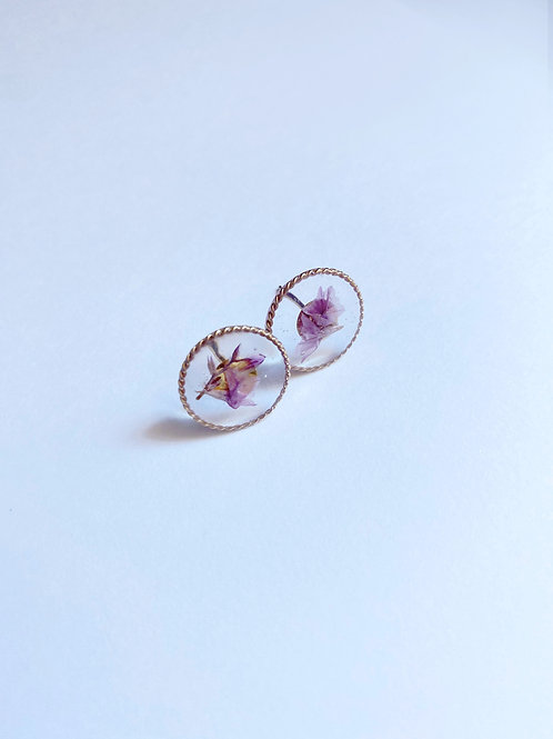 Circle Dance Earring - Color Lilac