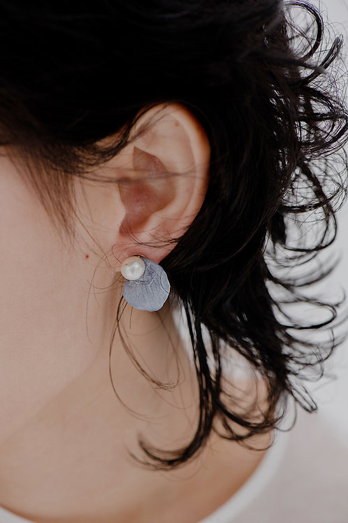 Petal Tear Earrings-Blue