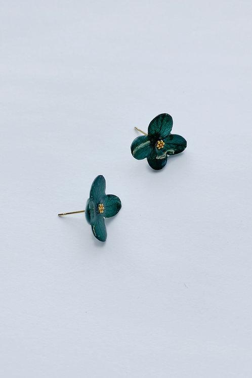 Love Earrings-Forest Green