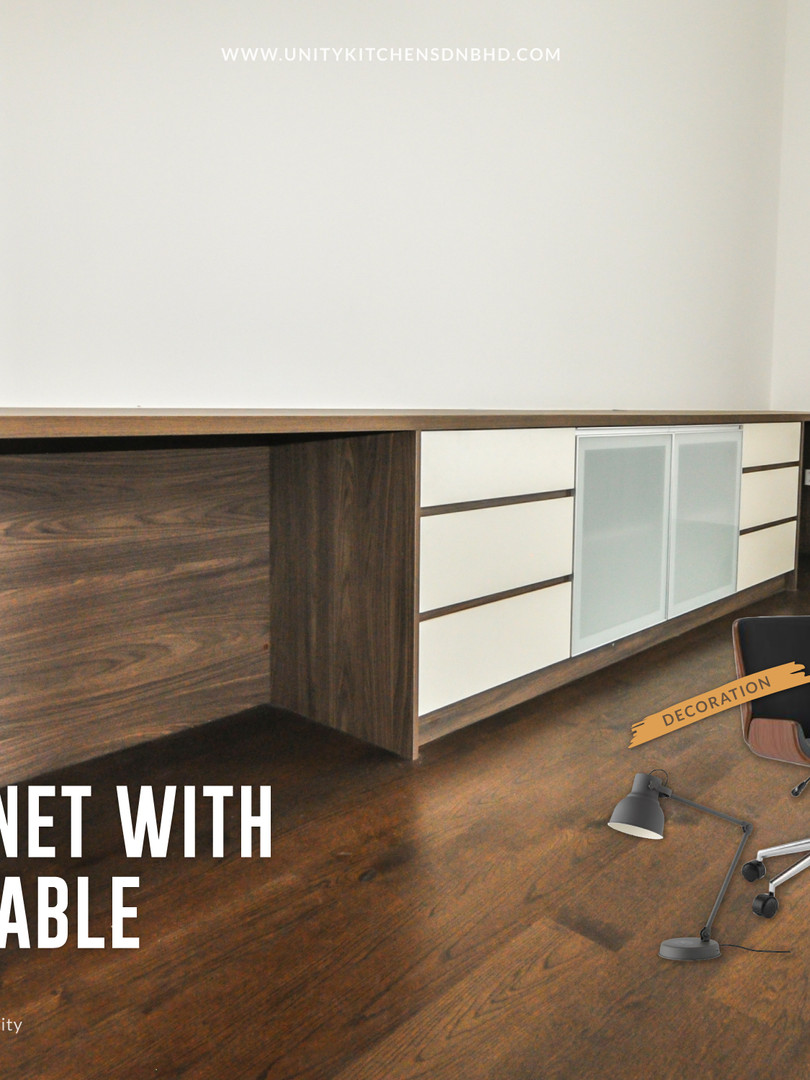 TV Cabinet With Study Table