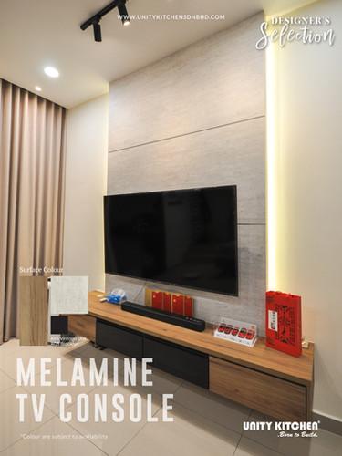 Melamine TV Console