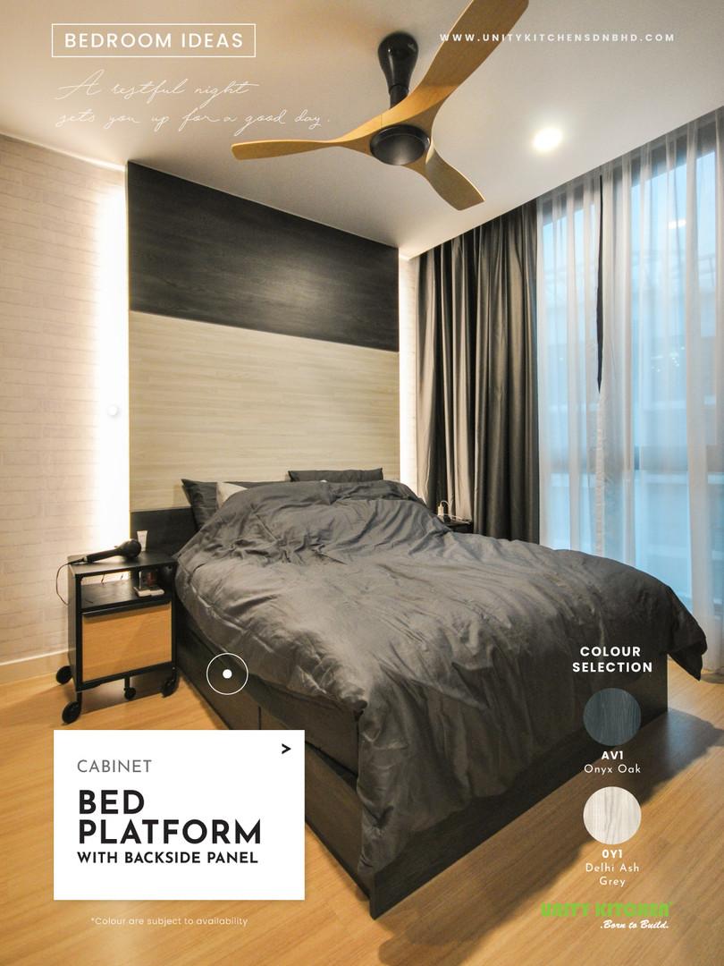 Bed Platform With Backside Panel