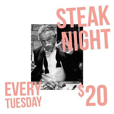Mr Hoddle Steak Night Special Chapel St.