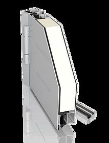 Hliníkové dvere CREO s obojstranným prekrytím