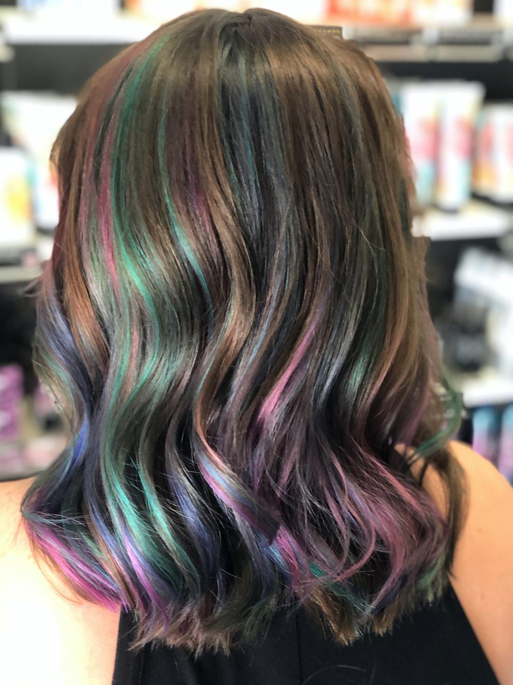 Pastel Oil Slick Opal Hair