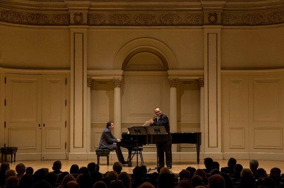 With Rorberto Vasquez, Carnegie Hall, NY 2016