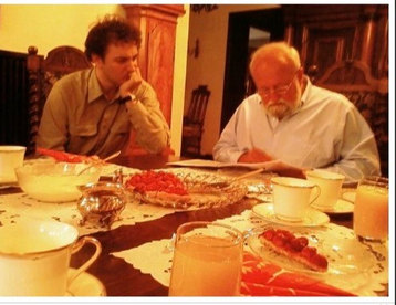 Lesson with Professor Penderecki at his home, Krakow 2008