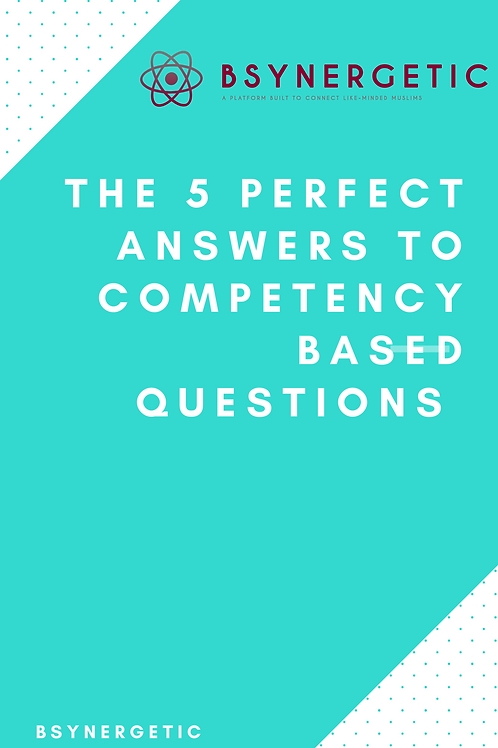 The 5 perfect answers to competency based questions