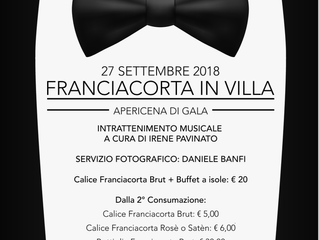 Franciacorta in Villa, apericena di gala, domani sera!