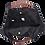 Thumbnail: BLACK HAND MOTIF EMBROIDERED SHOULDER BAG