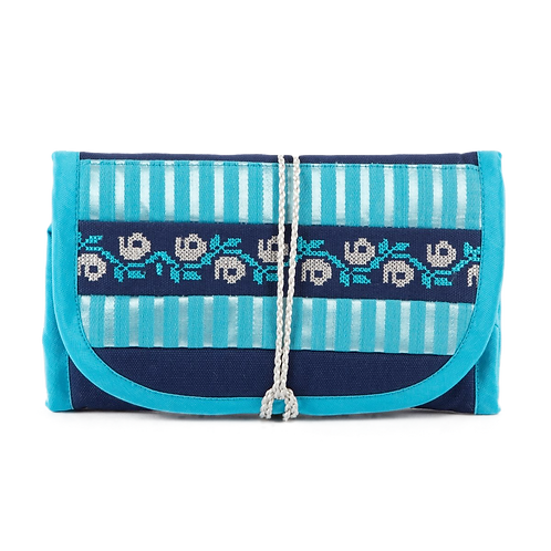 EMBROIDERED FOLDABLE JEWELLERY POUCH