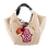 Thumbnail: BEIGE HAND MOTIF EMBROIDERED SHOULDER BAG