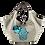 Thumbnail: GREY HAND MOTIF EMBROIDERED SHOULDER BAG
