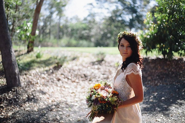 Yandina Station Wedding, Flower Crown