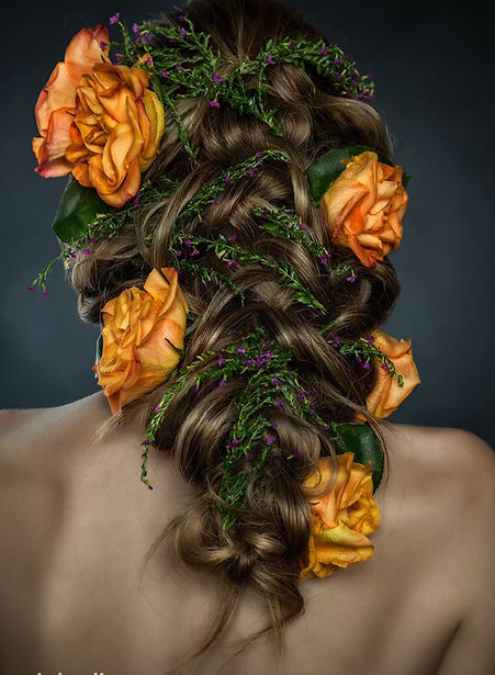 Mermaid Hair, Braid with Flowers