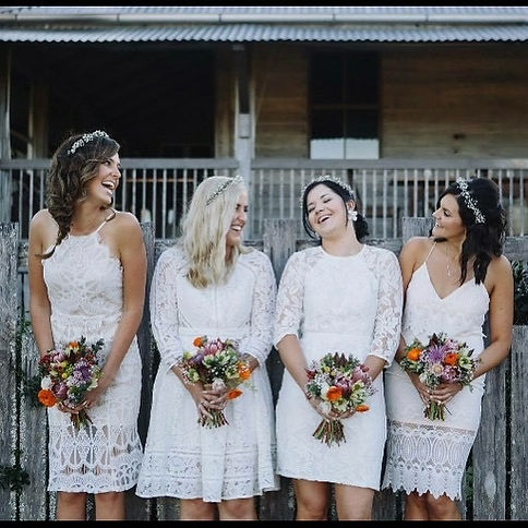 Yandina Station Wedding, Natural bouquets,