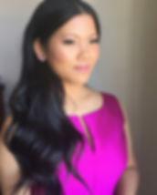 Fushia Dress, Glamourous Makeup
