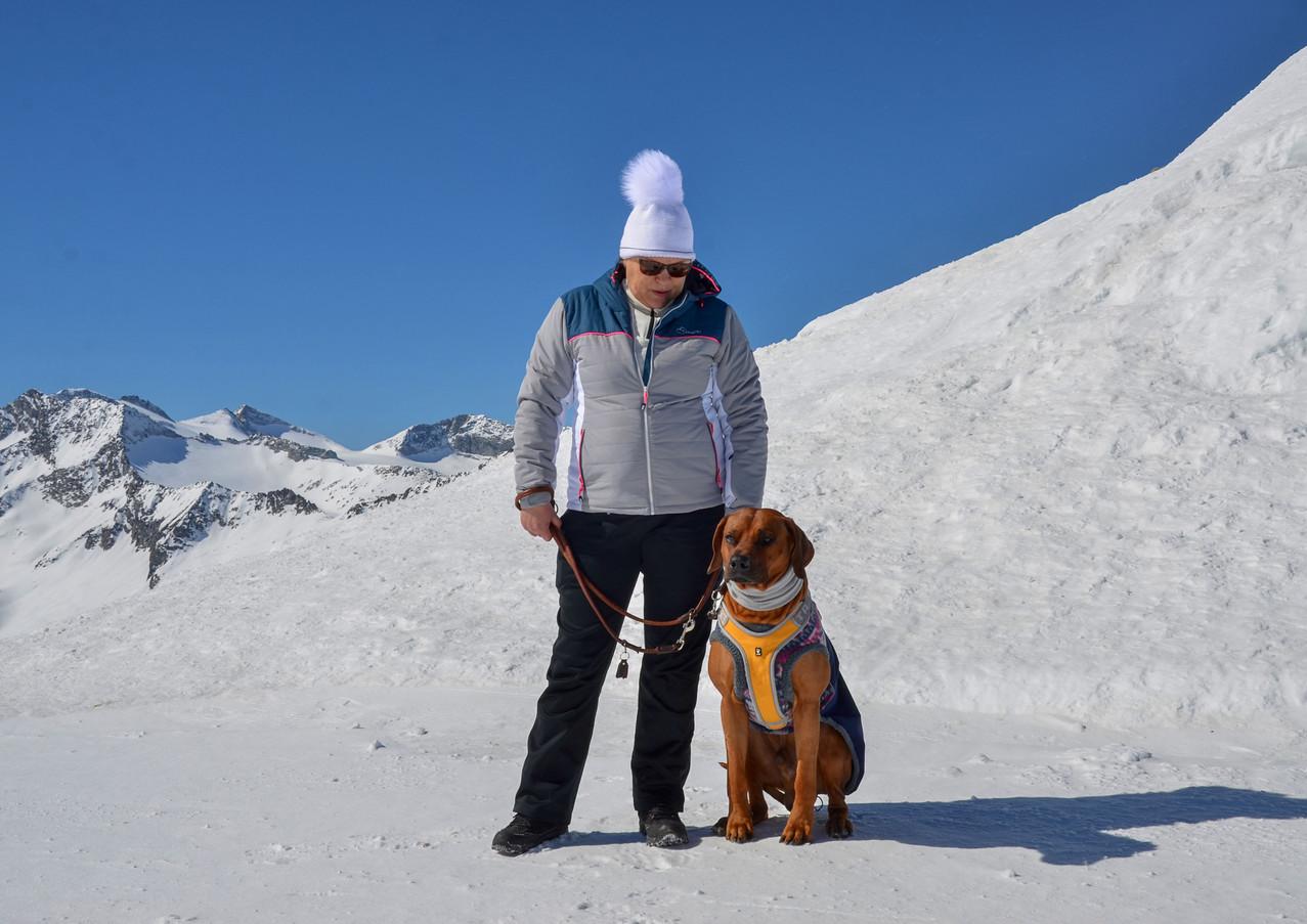 First time at 3000 metres above sea level. Cima Presena 3068 m.