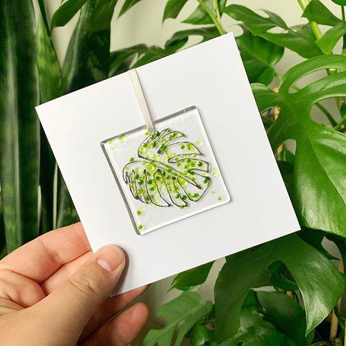 Monstera Leaf Card