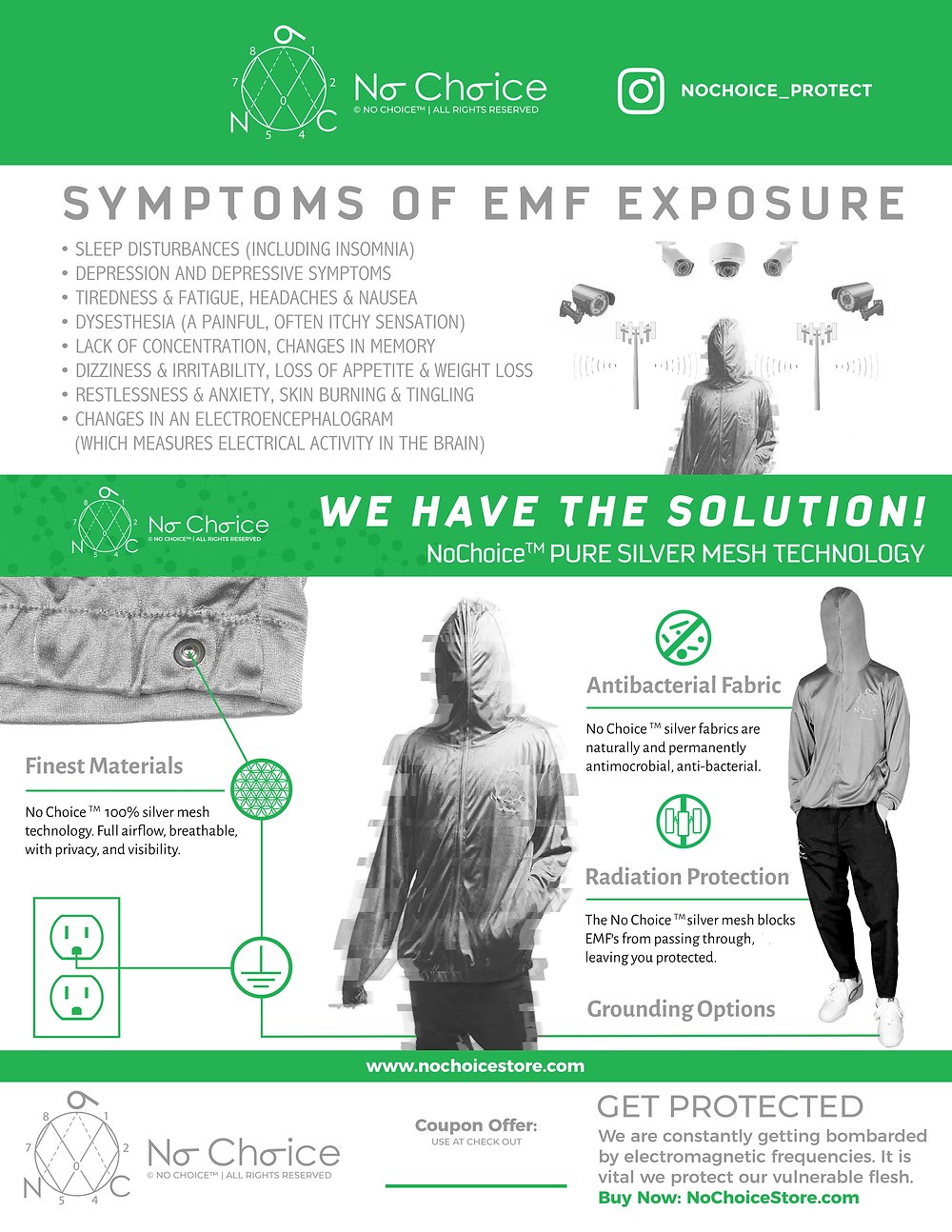 EMF protection clothing that protects from electromagnetic radiation and grounds you to the earth