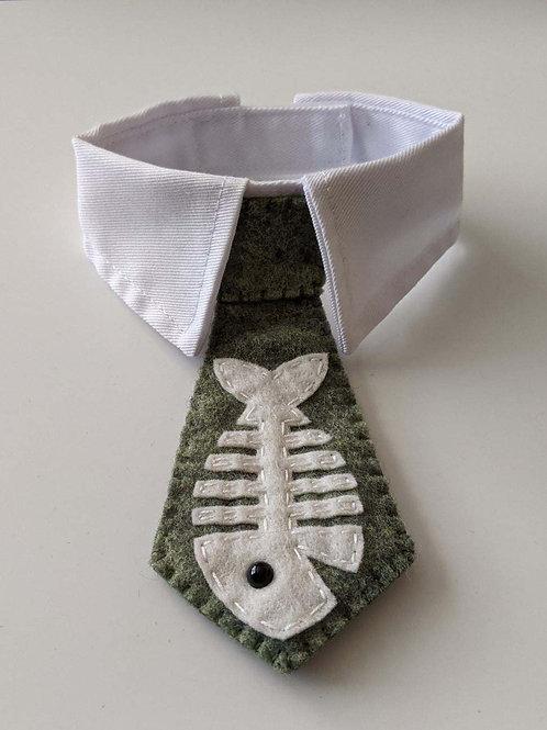 Felt Cat Ties: Fish Bones