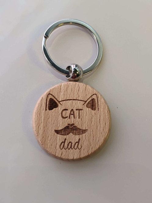 Cat Dad Keychain