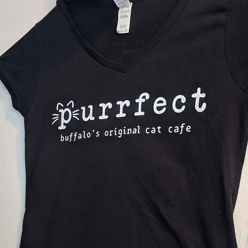 Purrfect V-Neck T-Shirt