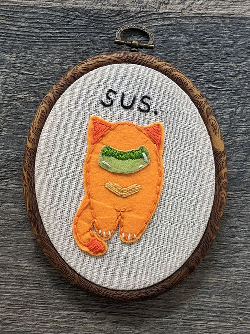 Sus Cat Embroidery